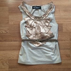 The Collection by SaraSara Gold Belted Camisole